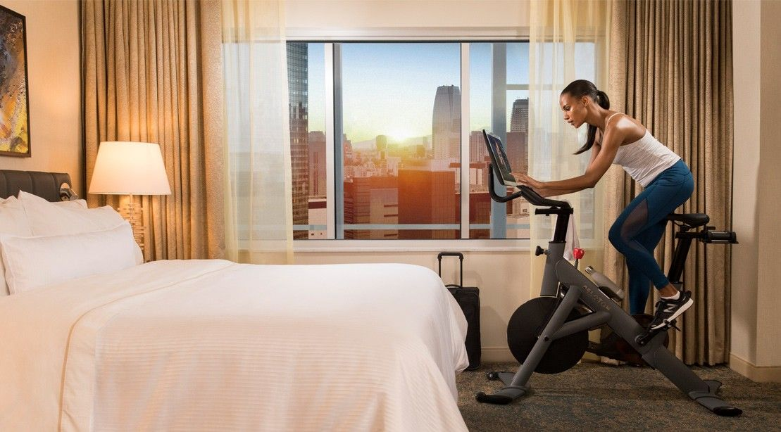 Can You Watch Tv On Peloton Westin Hotels Resorts Partners With Peloton Bike To Offer In Room Workouts Hotel Workout Peloton Bike Room