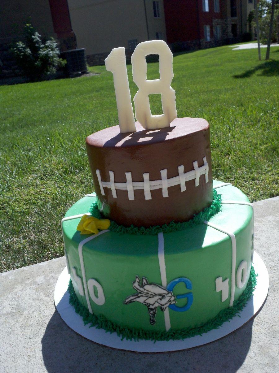 18th Birthday Football Cake 18th Cake Graduation Cakes Cake