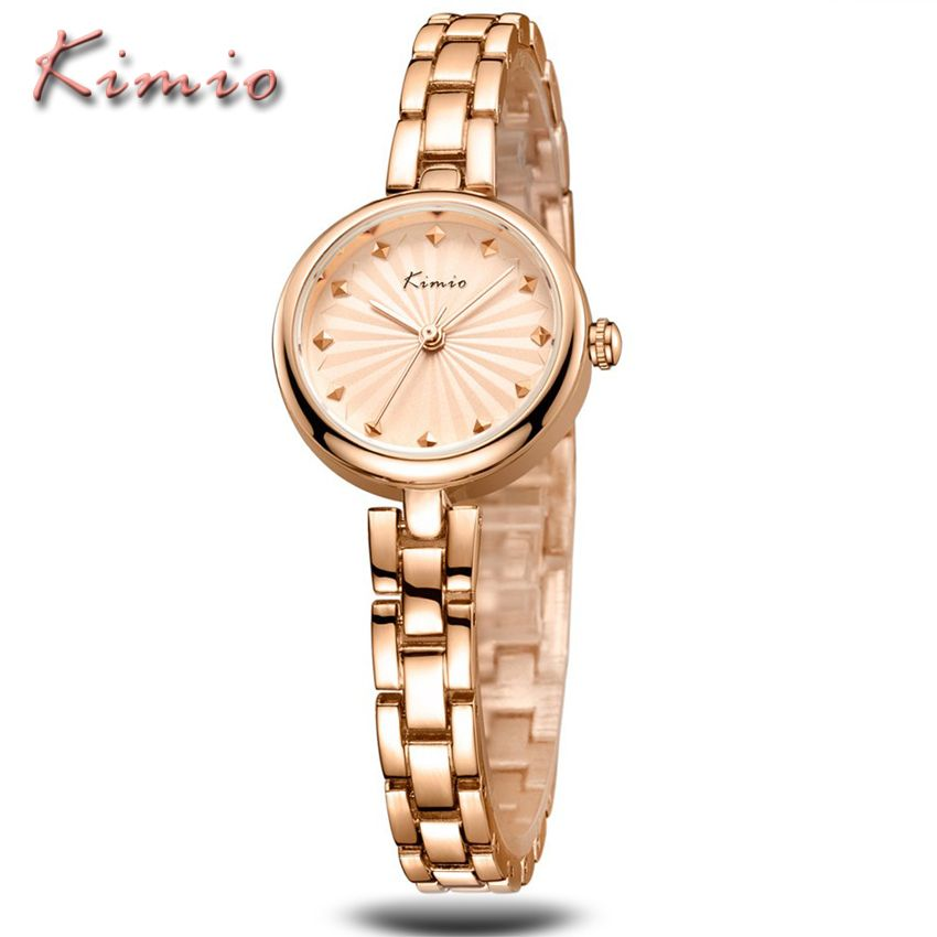 090ae8213d9 KIMIO Brand Exquisite Luxury Gold Business Ladies Watch Fashion Casual Relogio  Feminino Women Stainless Steel Quartz