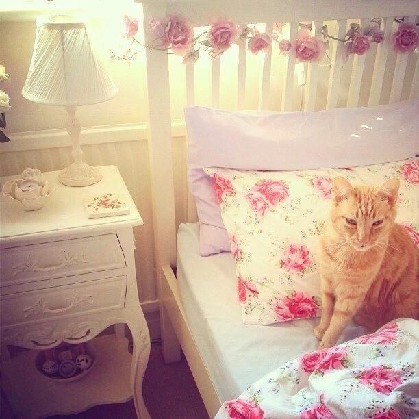 Pastel bedroom/floral bedroom