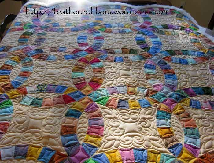 Double Wedding Ring Quilt finished Double wedding rings