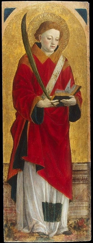 Saint Stephen By Vincenzo Foppa 1575 Museo Del Prado Christian