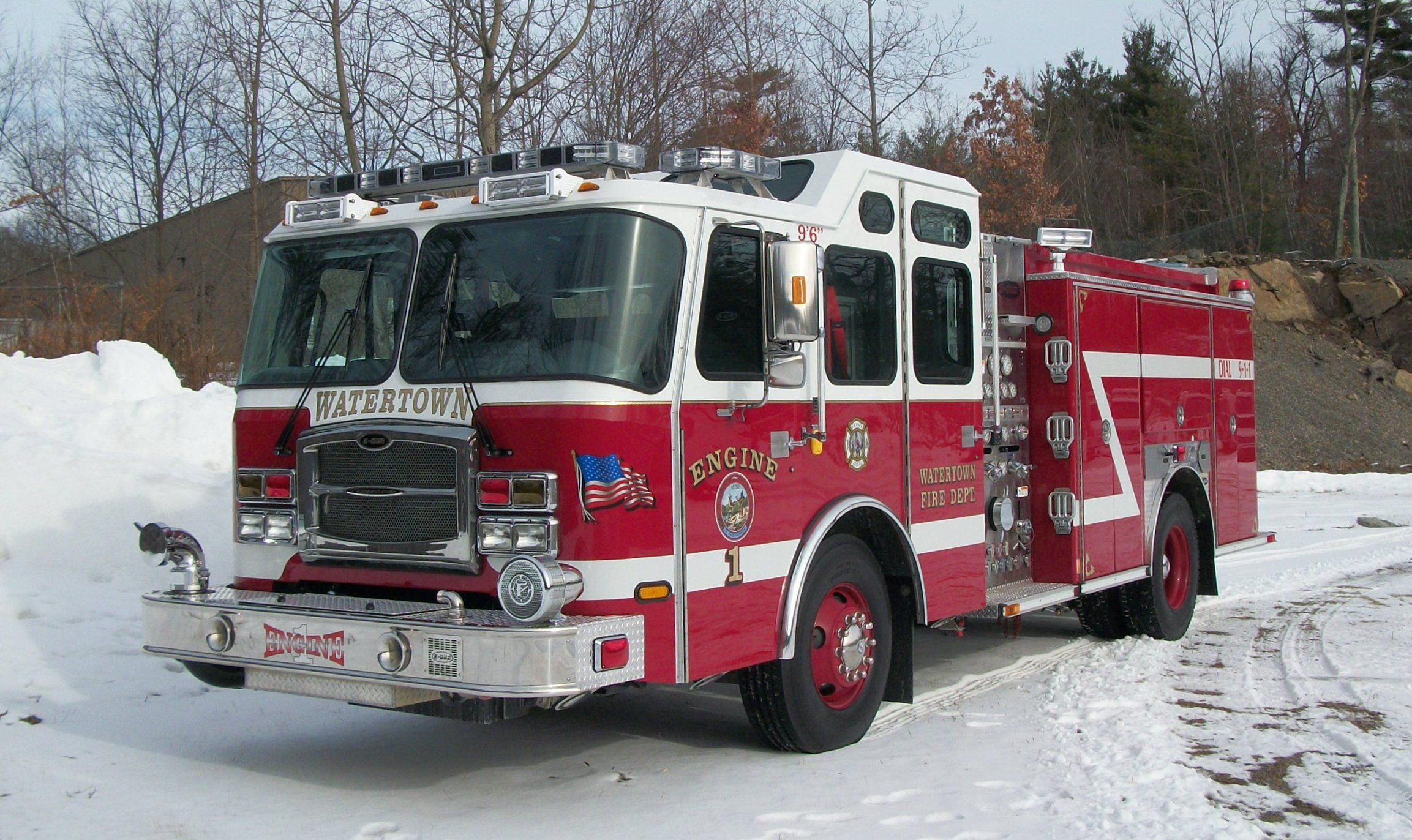 Watertown Fire Department Ma Engine One 2011 Emergency One Typhoon 1250 Gallons Per Minute Pumper Http Setcomco Fire Trucks Fire Apparatus Fire Department