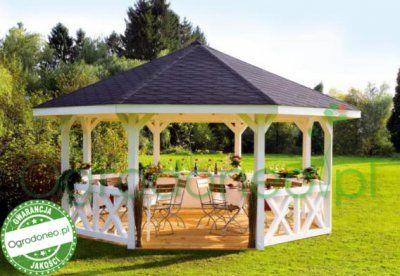 Ekskluzywna Osmiokatna Drewniana Altana Ogrodowa 6283159469 Oficjalne Archiwum Allegro Backyard Pavilion Gazebo Plans Outdoor Gazebos