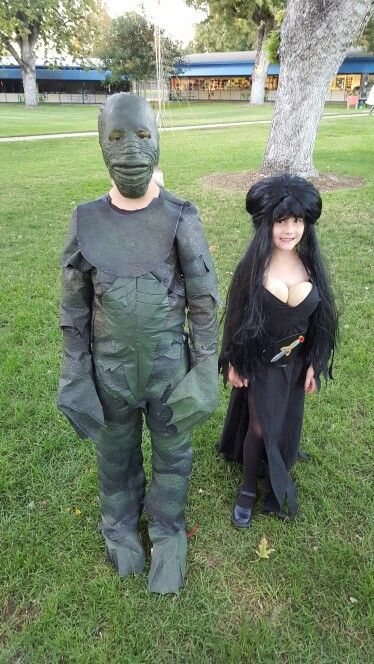elvira and the creature of the black lagoon halloween costumes my own creations r c van horn. Black Bedroom Furniture Sets. Home Design Ideas