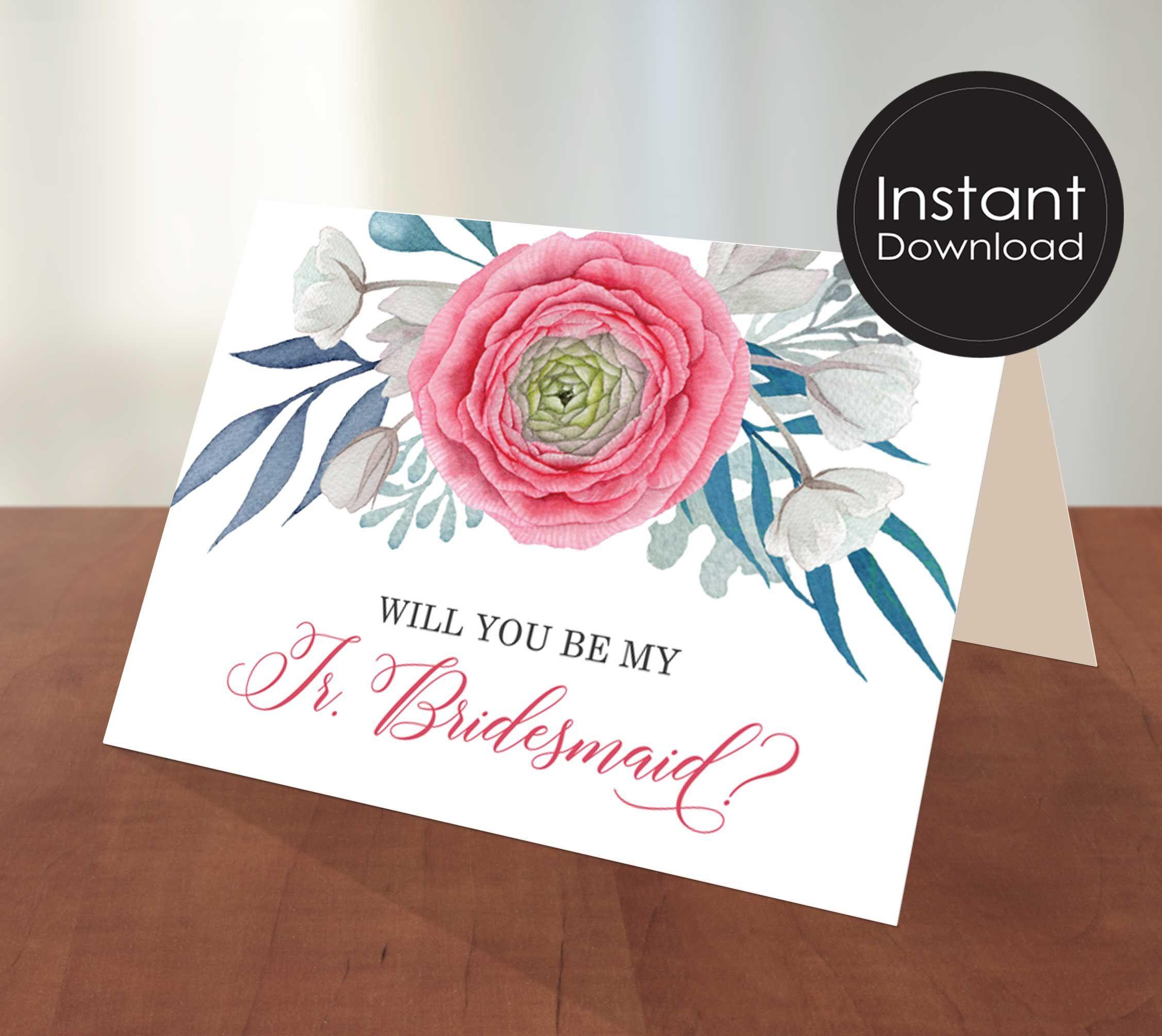 Junior bridesmaid proposal cardwill you be my junior