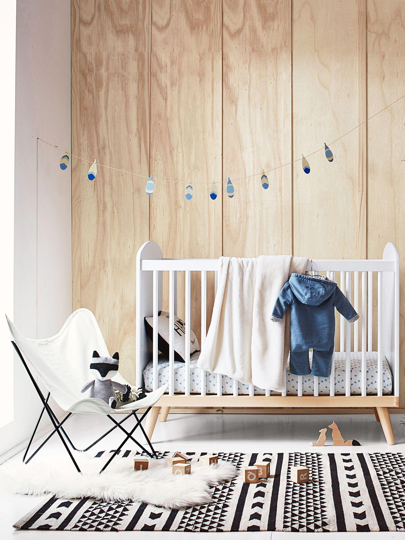 Lit bébé à barreaux confetti blanc babies room and kidsroom