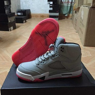 purchase cheap 2bbe4 dc0bf Air Jordan 5 GG Hot Lava Wolf Grey Black White 440892 018