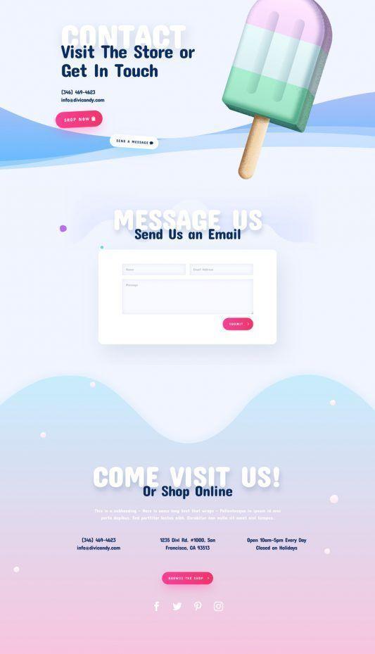 Candy Shop Landing Page | Elegant Themes