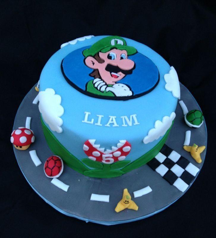 Magnificent Luigi Birthday Cake With Images Cupcake Cakes Birthday Cake Cake Funny Birthday Cards Online Unhofree Goldxyz