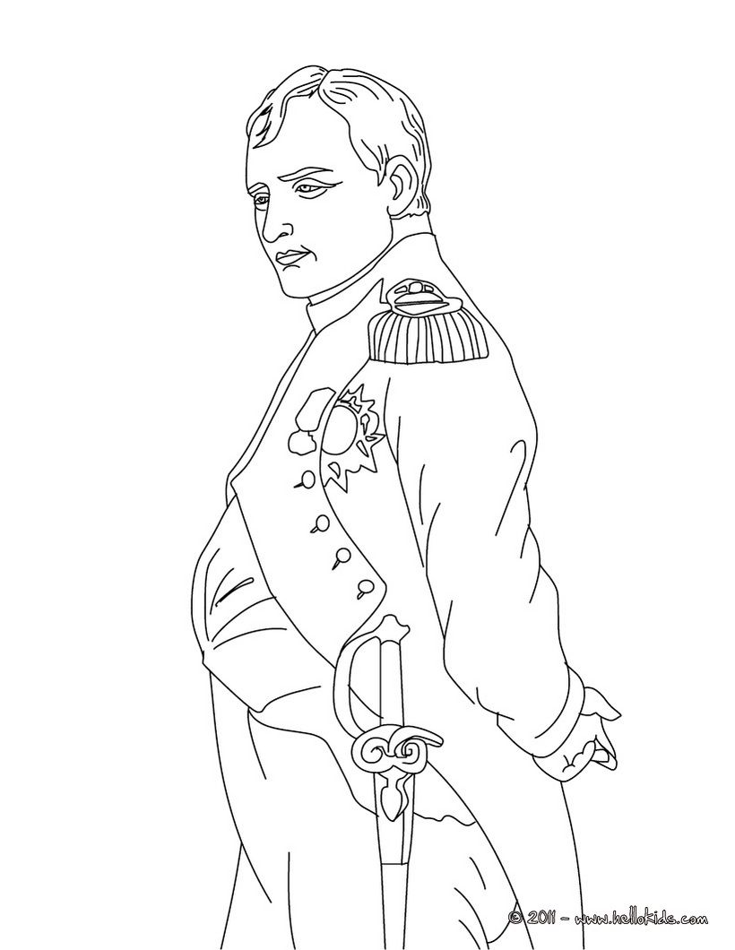 napoleon coloring page cc cycle 2 pinterest napoleon