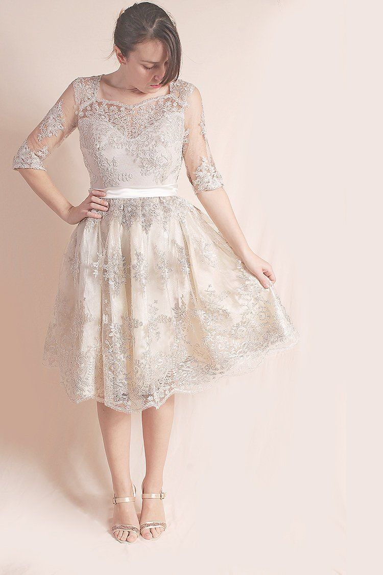 Plus size party dresses for weddings  Plus Size bridesmaid lace dressshort wedding party dressCocktail