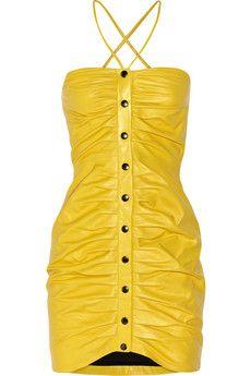 Paul & Joe Ruched leather mini dress £617.02