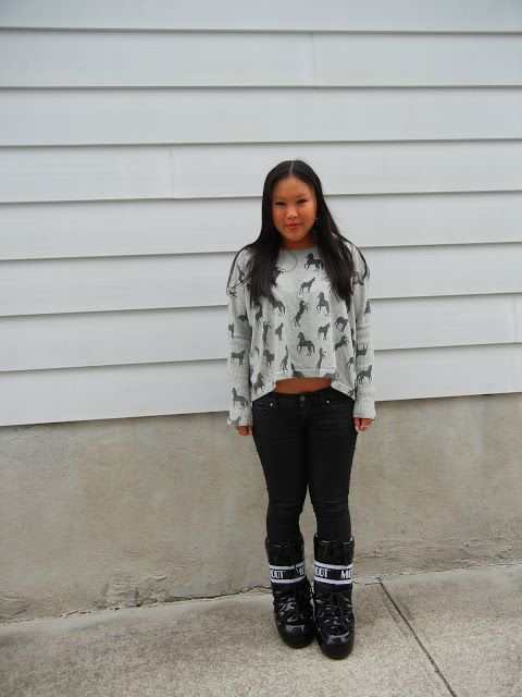 wearing Moon Boots! #fashion #style #outfit