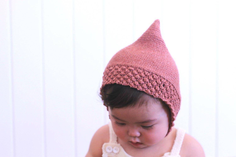 c862c3b78072 Knitting pattern baby pixie hat -baby -toddler- pixie bonnet