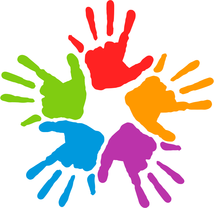 Free Five Colorful Hands Clip Art Hand Clipart Unity In Diversity Clip Art