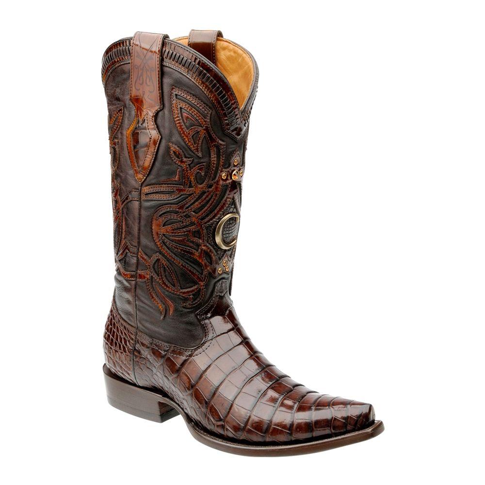 aab88b9a EDICIONES ESPECIALES CUADRA ~ Bota de edición Legado con bordado en piel y  aplicaciones de piedra Swarovski boots
