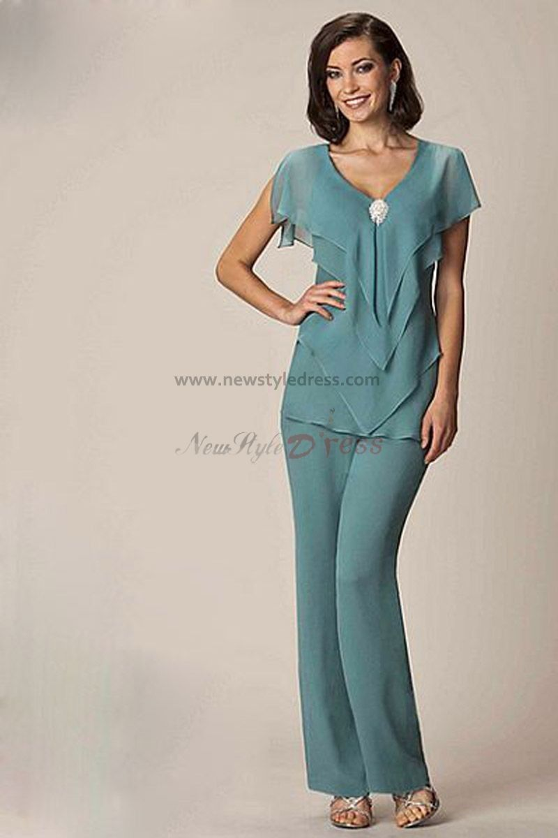 Modern Cheap Chiffon Two Picec mother of the bride pants suits nmo ...