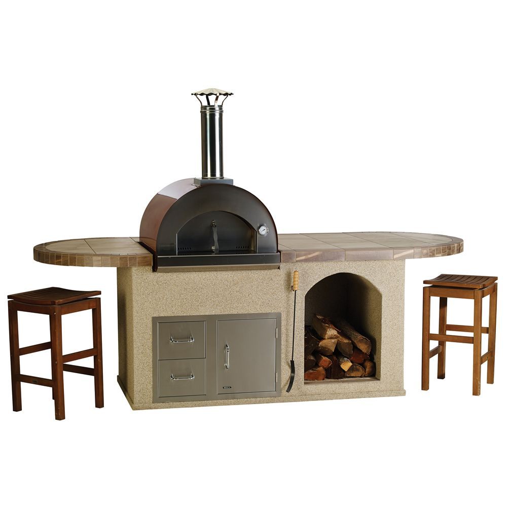 Bull Pizza Q Island Stucco or Rock Outdoor BBQ Kitchen Island Base Price:  8,199.90