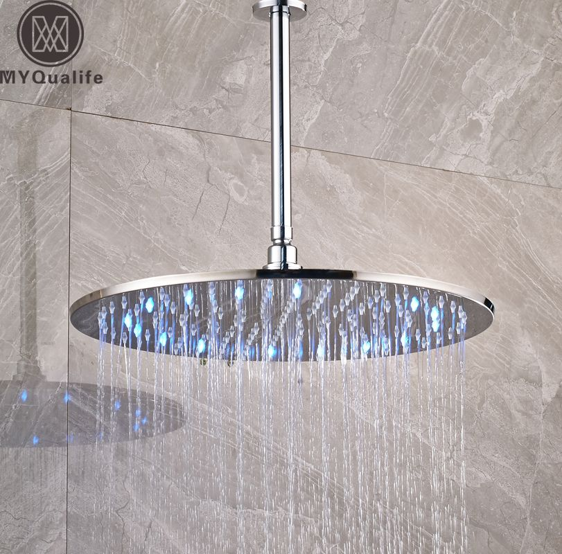 Click To Buy Luxury Led Colog Changing 16 Inch Big Rain Shower