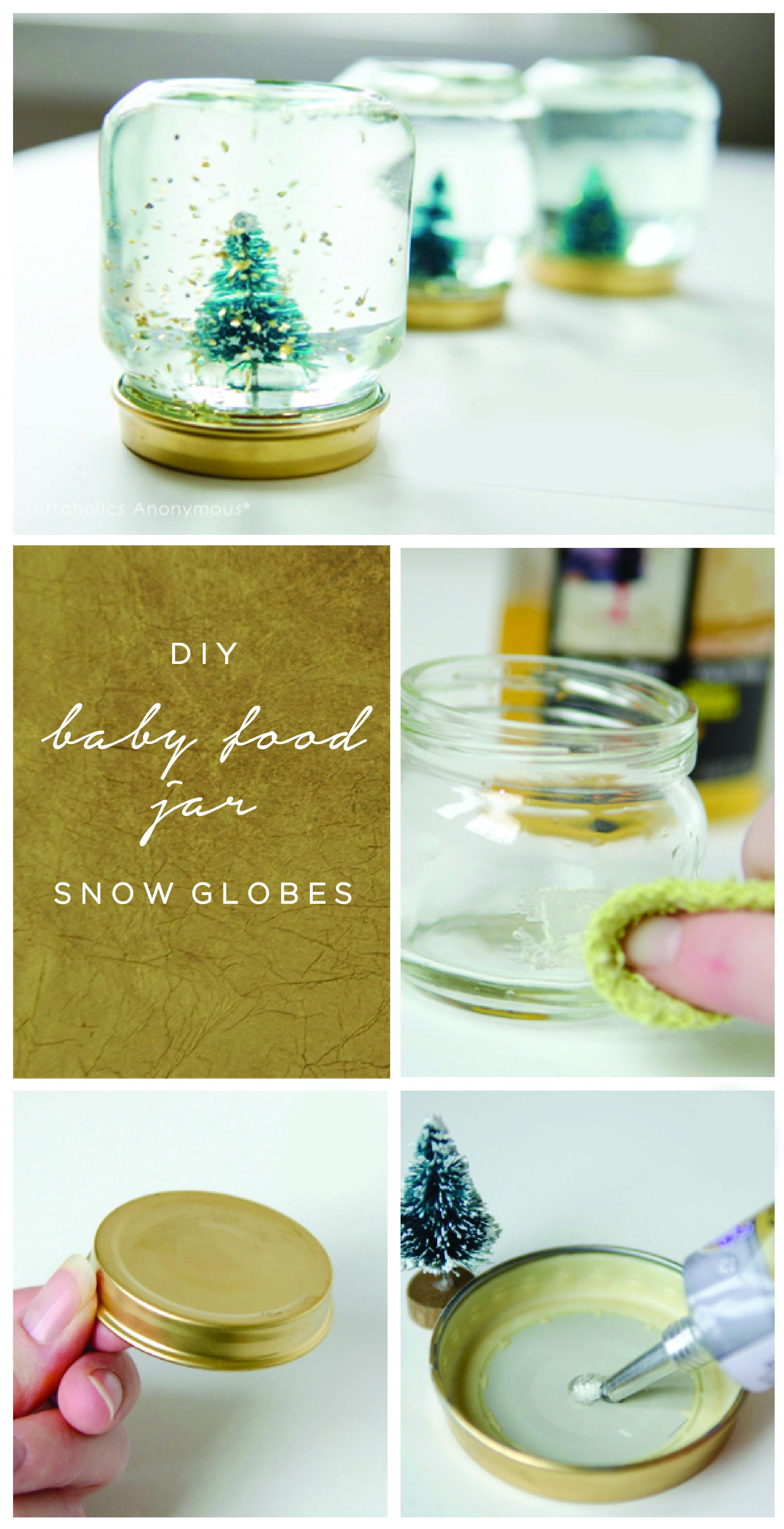 Baby Food Jar Snow Globes Tutorial Festive Family Fun Pinterest