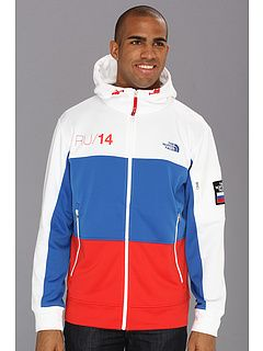 ae53c02282a The North Face - International Full Zip Hoodie (Russia TNF White Nautical  Blue Majestic Red) - Apparel