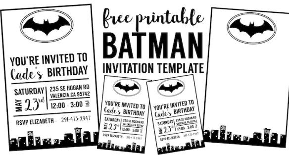 photo relating to Free Printable Superhero Baby Shower Invitations named Free of charge Batman Invitation Template Pj Batman invites