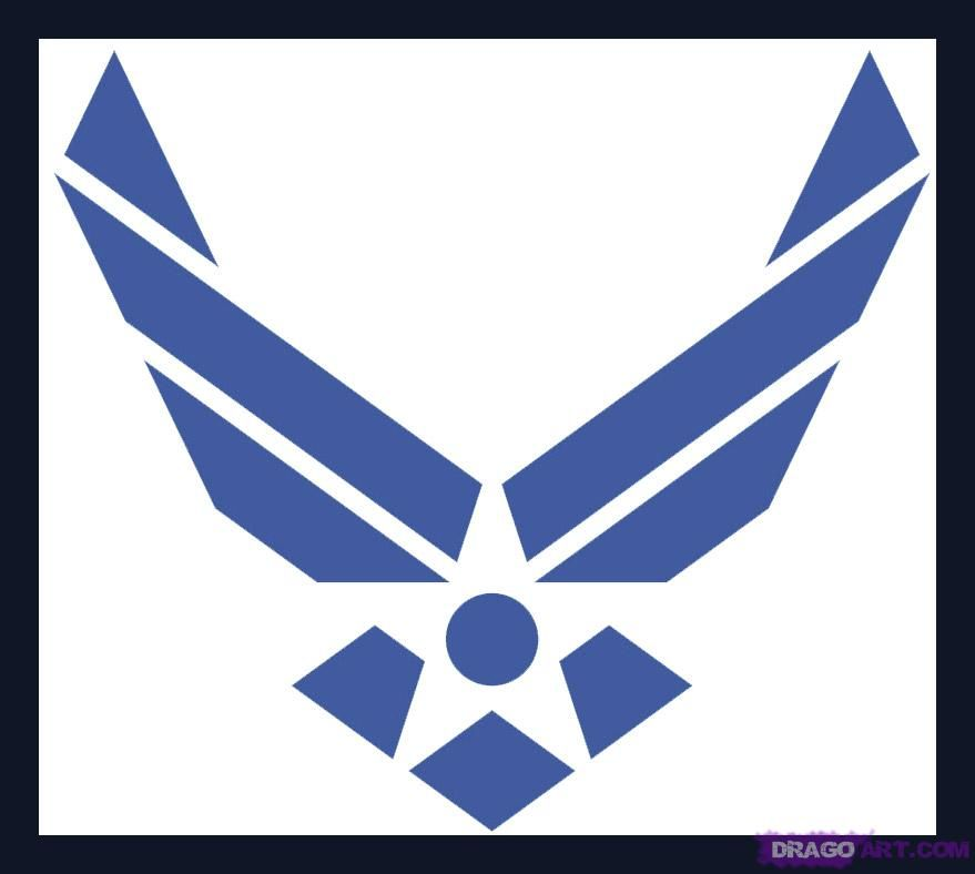 64120f8f2df how to draw the air force symbol | Air Force ❤️ | Air force symbol ...