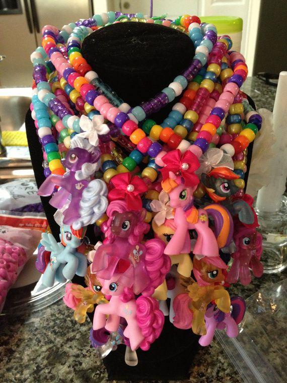My Little Pony Kandi Necklace - Custom Pony/Custom Colors on Etsy, $9.00
