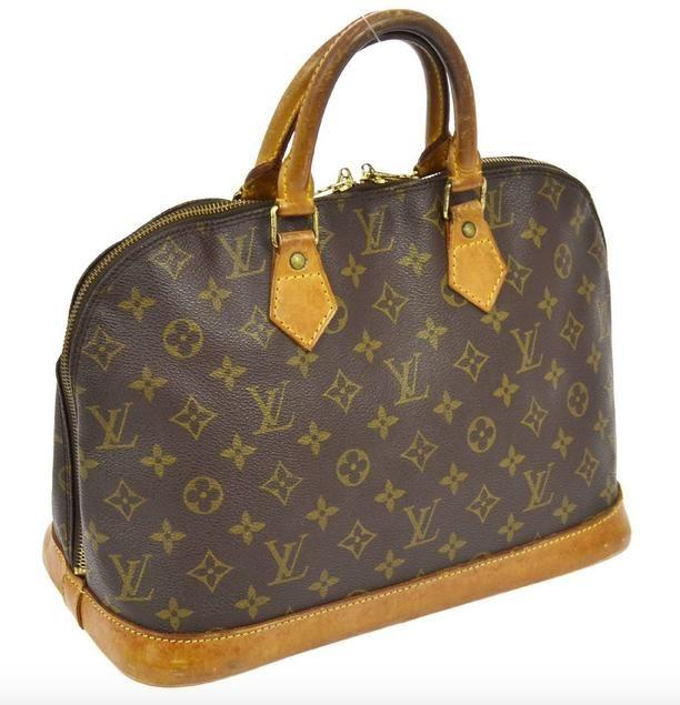 45be9443ab06 Louis Vuitton Alma Vi 1922 Clean Brown Monogram Satchel.
