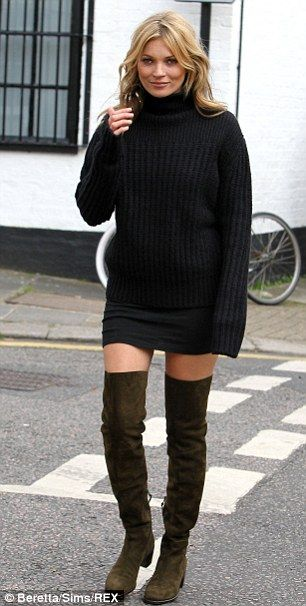 ea0116288a Miley's Thigh-high boots are latest celebrity trend | nothing to wear | Kate  moss style, Kate moss, Fashion
