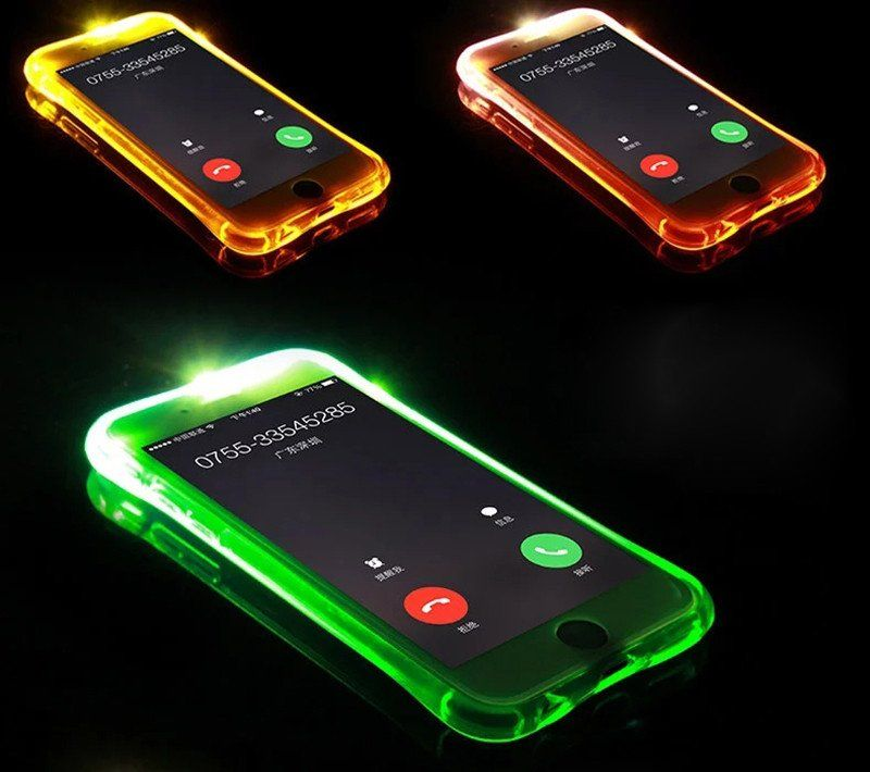 sports shoes 4f27f c966b New Soft TPU LED Flash Light Up Case Remind Incoming Call Cover For ...