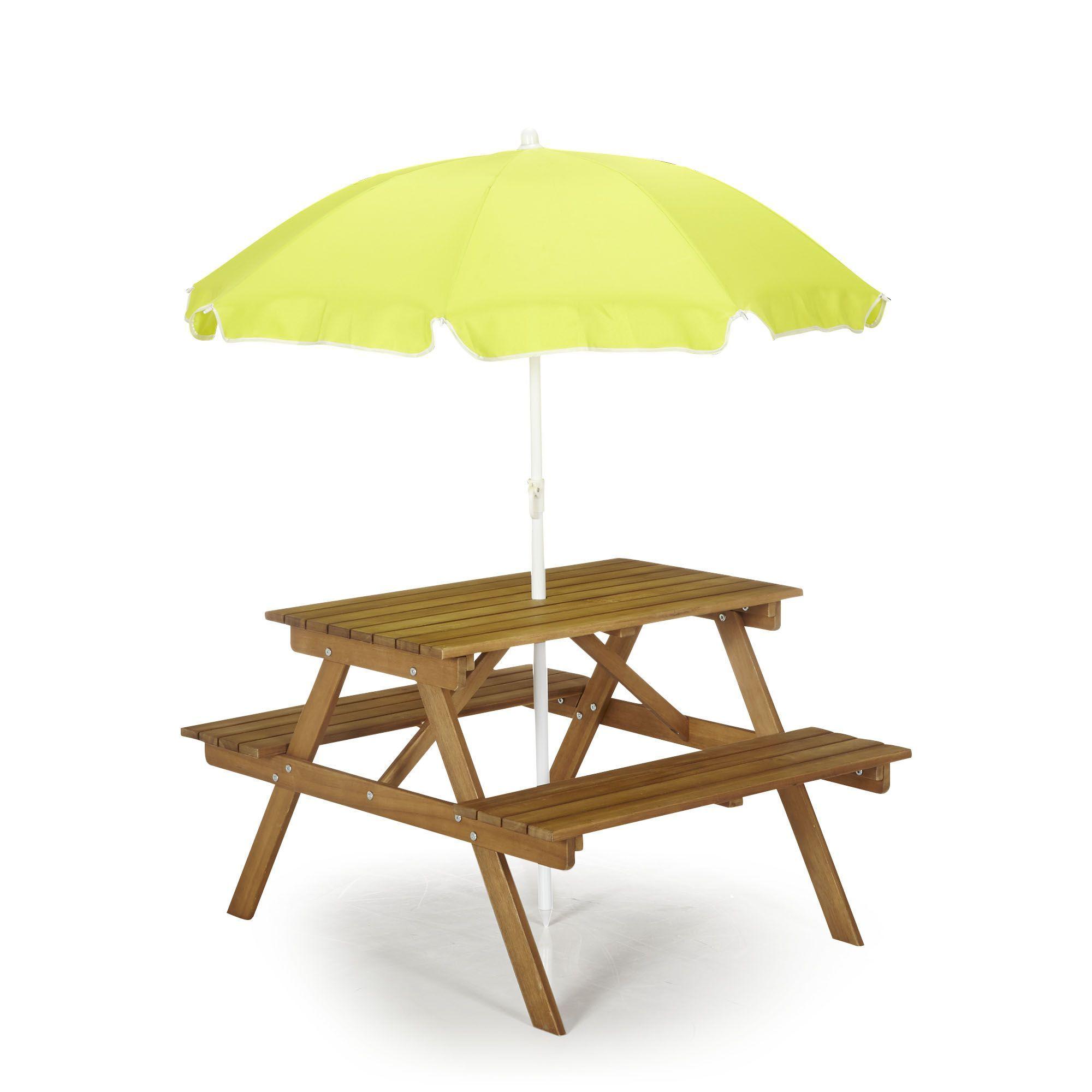 Table de pique-nique en acacia pour enfant Acacia - Duoti - Les ...