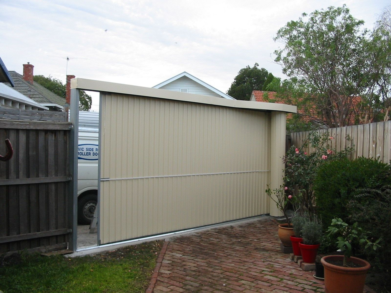 Fenceline Side Roll Garage Roller Doors Housey Housey