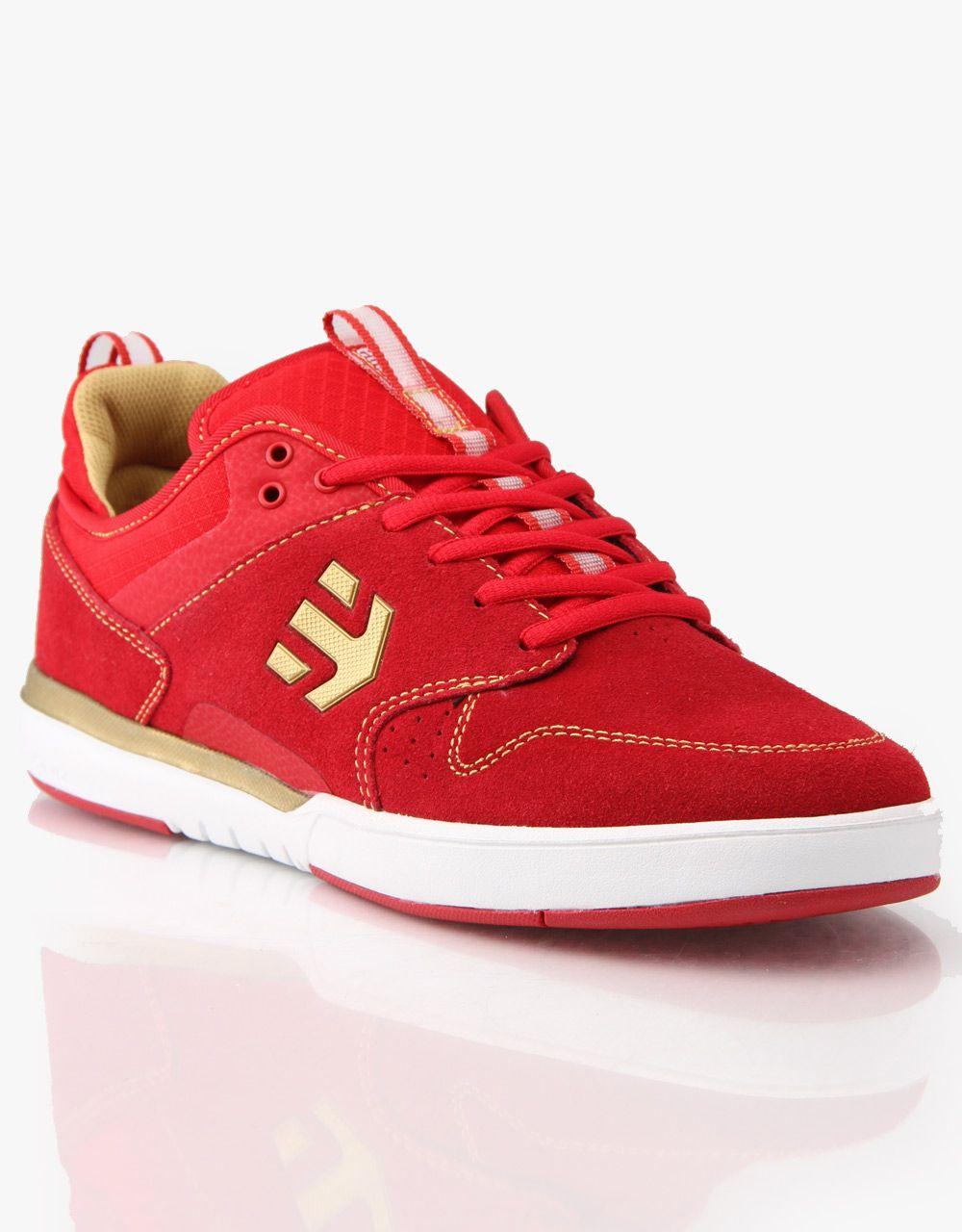 Etnies Aventa Skate Shoes RedGold   Skate shoes, Shoes