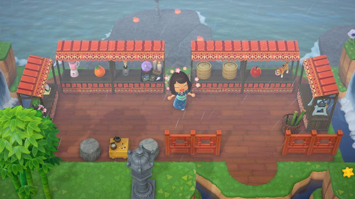Acnh Stalls Acnh Custom Designs In 2020 Animal Crossing Food Stall Design Animal Crossing Game