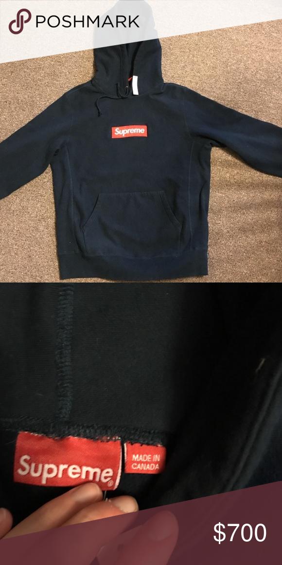 d72eacdc Supreme FW/16 Box Logo hoodie Deadstock with tags supreme FW/16 navy box  logo hoodie. Shirts Sweatshirts & Hoodies