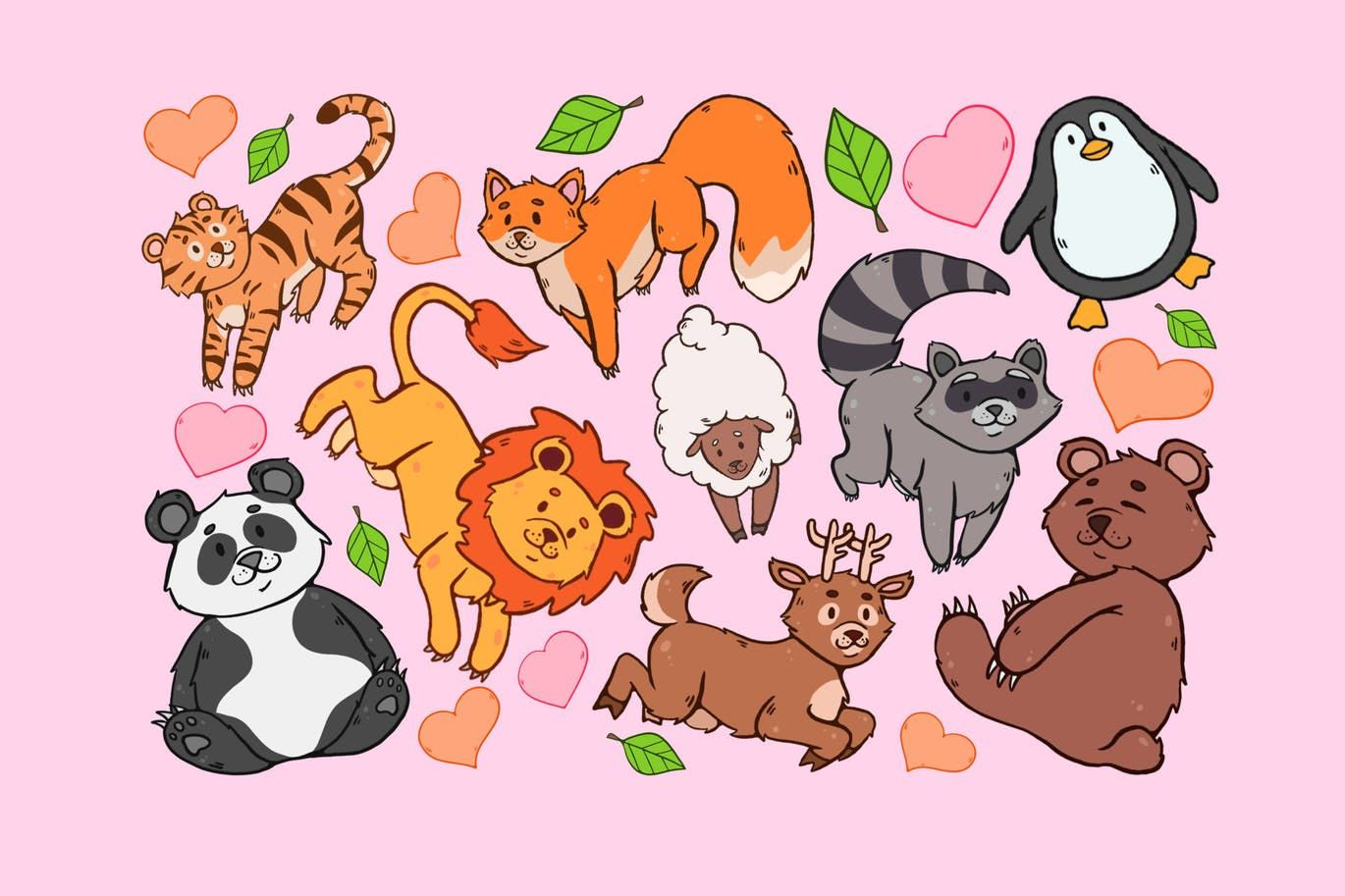 Animal Variety Clipart By Jumsoft On Envato Elements Clip Art Cute Animal Clipart Animal Clipart