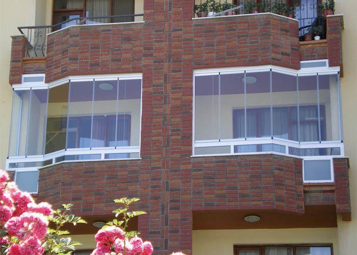 Balc n cerrado con cristal sin perfiles cortinas de - Cristales para balcones ...