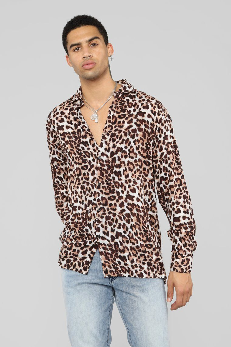 Too Quick Long Sleeve Shirt Leopard Shirts Long Sleeve Shirts Outfits For Teenage Guys [ 1140 x 760 Pixel ]