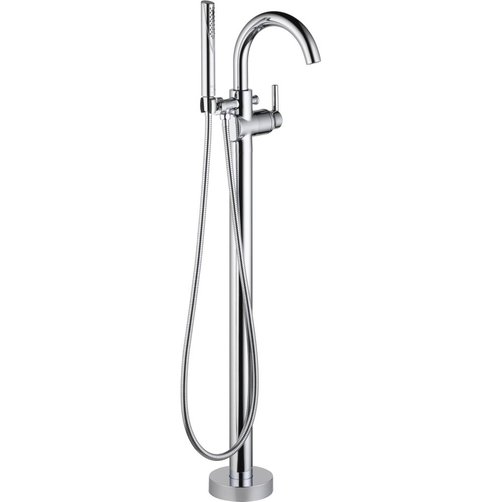 Delta Faucet T4759-FL Trinsic Single Handle Floor Mount Tub Filler ...