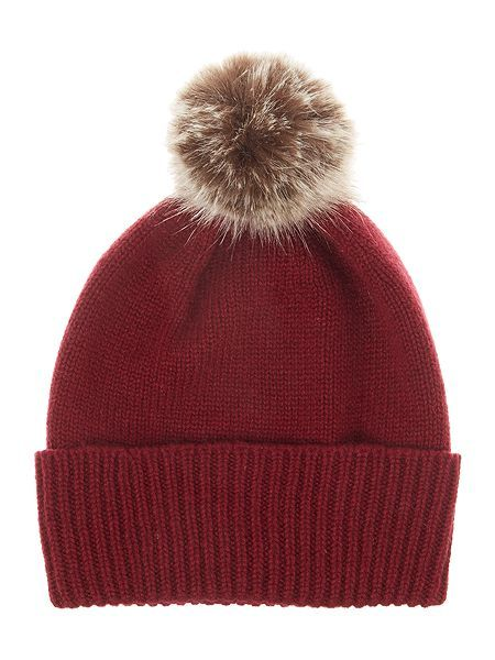 3084991e2d8 Helen Moore Cashmere hat with faux fur p EUR 56.00
