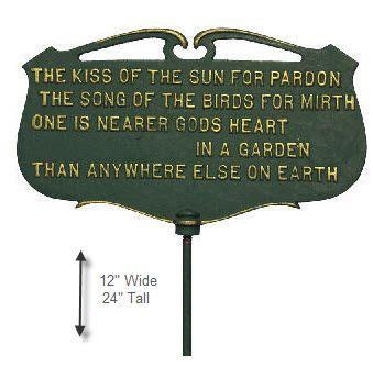 Kiss Of The Sun Garden Sign Garden Signs Sun Garden Garden Poems