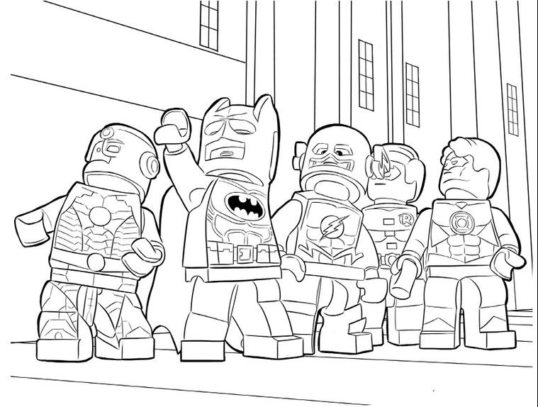 lego batman superheroes coloring pages