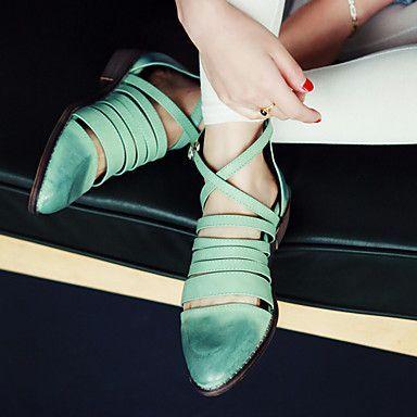 Mulheres de salto Plano Conforto Sandálias Sapatos (mais cores) – BRL R$ 157,46