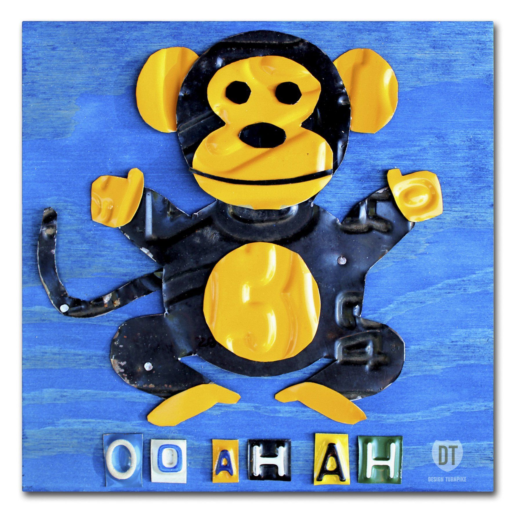 Trademark Fine Art Oo Ah Ah the Monkey Canvas Wall Art - ALI1264 ...