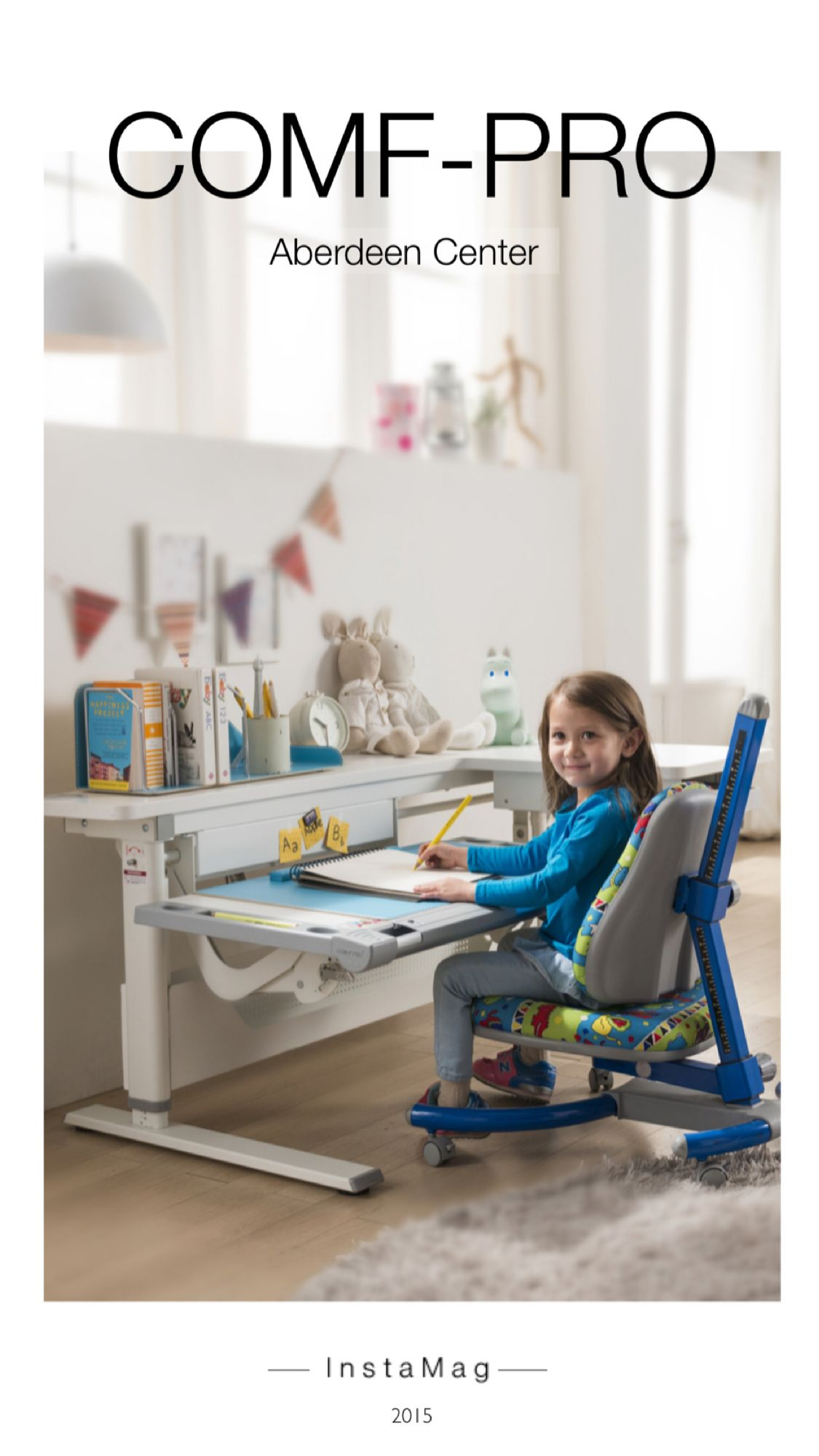 comfpro kids ergonomic desk and chair. grows with your