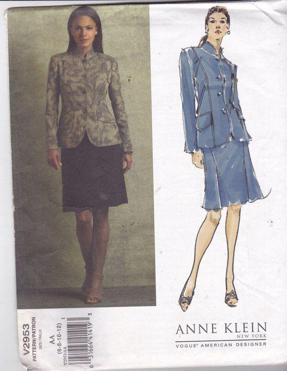 Vogue American Designer 2953 Vintage Pattern - Anne Klein - Mandarin ...