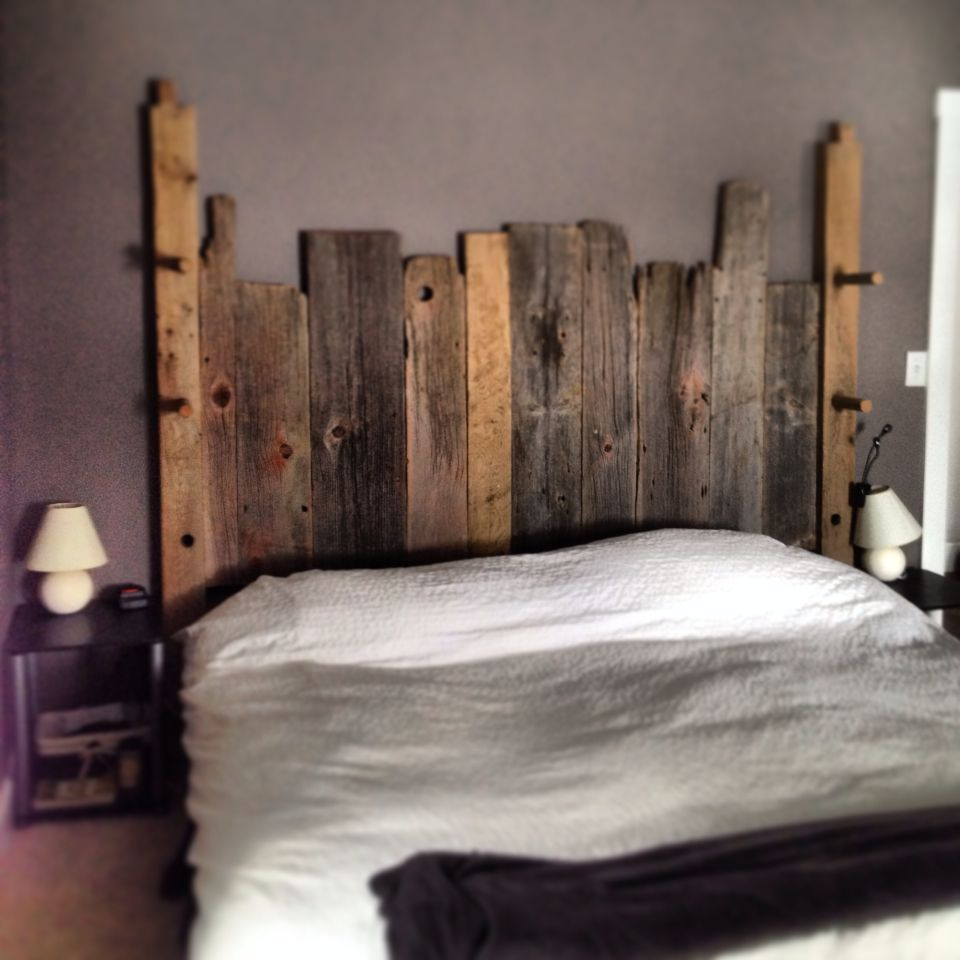 Reclaimed headboard made from 100 reclaimed wood the end for Recycled headboards