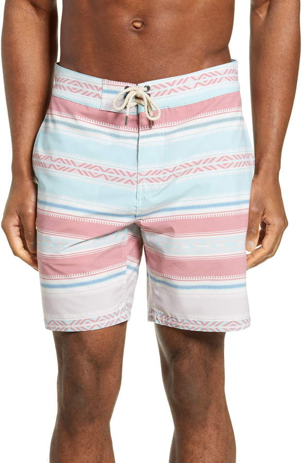 056c880c56 Faherty Stripe Board Shorts in 2019 | Products | Shorts, Swim trunks ...